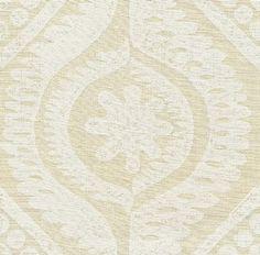 Damask in White from Lee Jofa (@Kravet) #fabric #linen #neutral