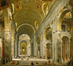 Giovanni Paolo Panini *Interior of St. Peter's, Rome (1750)*