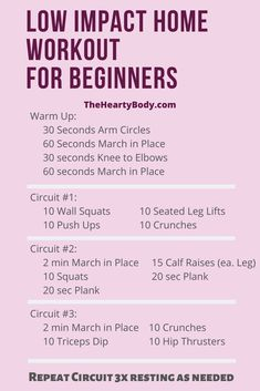 Use this low impact home workout if you are a beginner and need a home workout you can use to get fit and loose weight. Exercise at home with this Home Workout that is Low Impact. Fitness Workouts, Beginner Workout At Home, Cardio At Home, Cardio Workout At Home, Home Exercise Routines, Easy Beginner Workouts, Easy At Home Workouts, Workout Routines, Dancer Workout Plan