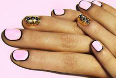 Retro-Glamorous Nail Art Tutorial