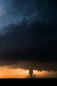 Backlit tornado near Rozel, Kansas. Photo by Fred Wasmer. Tornados, Thunderstorms, Severe Weather, Extreme Weather, Natural Phenomena, Natural Disasters, Mother Earth, Mother Nature, Sprites