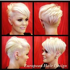 Gorgeous cut and colour @europahairdesign #shorthair #blonde