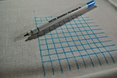 Step by step tutorial for gridding or over 1 stitching. This technique is a must for cross stitching large complex patterns with lots of colour changes. Cross Stitching, Color Change, Fabric, Lord, Colour, Patterns, Tejido, Color, Block Prints