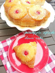 Old fashioned pineapple upside
