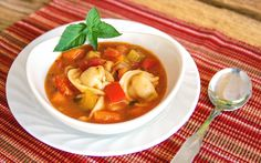 30-Minute Tortellini and Vegetable Soup