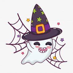 Cute Halloween Drawings, Kawaii Halloween, Halloween Rocks, Halloween Doodle, Halloween Cartoons, Halloween Painting, Halloween Stickers, Halloween Pictures, Halloween Ghosts