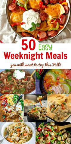 Mpin - 50 Easy Weeknight Meals You Will Want to Try this Fall easymeals dinner quickmeals recipes easyrecipes weeknightmeals dinner dinnerrecipes Fast Easy Dinner, Fast Dinner Recipes, Fast Dinners, Easy Weeknight Dinners, Quick Meals, Fall Recipes, Weeknight Recipes, Supper Recipes, Easy Stuffed Cabbage