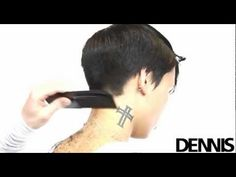 Step by Step Haircut Technik von Dennis Rombout 2012 spring Hair Cutting Videos, Hair Cutting Techniques, Hair Videos, Trendy Haircuts, Haircuts For Men, Barbers Cut, Dennis, Pixie Haircut, Short Haircut