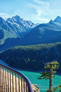 Heavenly colors at Diablo Lake in the Cascades, Montana