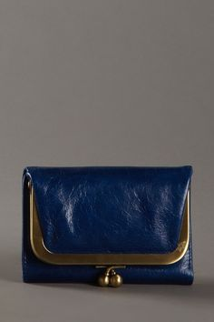 Navy and gold Robin Small Wallet by Hobo International