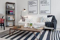 minimal scandi living area