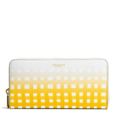 The Accordion Zip Wallet In Gingham Saffiano Leather from Coach