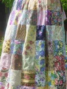 Patchwork Apron/ But I want to make it into a skirt!! So cute!