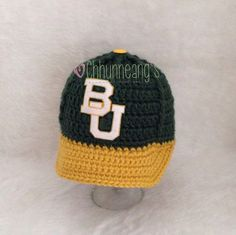 Baby Baylor University Ball Cap // For the baby who'll grow up to play baseball for Baylor. :) #SicEm