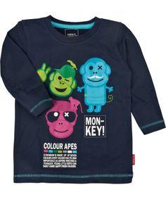 Chouette T-shirt marine avec trois singes par Name It #emilea