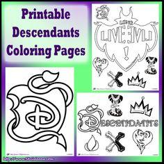 Printable Descendants Coloring Pages