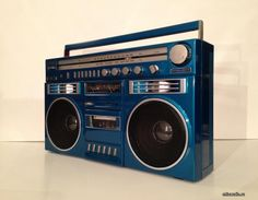 blue colour boom box  .....................Please save this pin.   .............................. Because for vintage collectibles - Click on the following link!.. http://www.ebay.com/usr/prestige_online