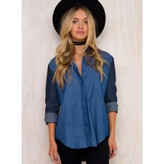 The Fifth Label The Fifth Burning Colour Shirt ($60) ❤ liked on Polyvore featuring tops, dark blue, dark blue shirt, dark blue top, blue shirt, shirt tops and blue top