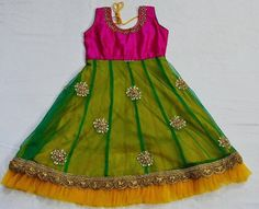Simple Silk Frock | Indian Dresses Frocks For Girls, Dresses Kids Girl, Girl Outfits, Baby Dresses, Kids Dress Wear, Kids Gown, Kids Wear, Girls Frock Design, Baby Dress Design