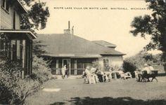 White Lake Villa Whitehall Michigan Postcard | eBay