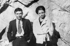 A Picture taken in the early 30s of outlaws Bonnie Parker (R) and Clyde Barrow