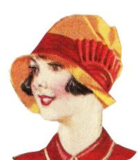 1927 Felt Asymmetrical Cloche http://www.vintagedancer.com/1920s/1920s-hats-styles/