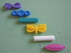 14 Piece Lot 1980 S Vintage Retro Hair Barrettes Clips Pastel Colors And