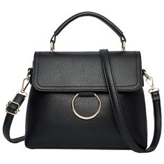 Black Ring Stitching Faux Leather Handbag (650 RUB) ❤ liked on Polyvore featuring bags, handbags, tote bags, vegan leather tote, handbag purse, faux-leather handbags, vegan leather tote bag and vegan handbags
