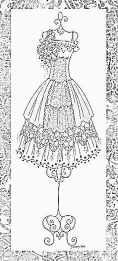 Adult coloring - dress