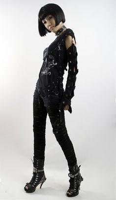 t-056 punk original brand girls cotton t-shirts wholesale