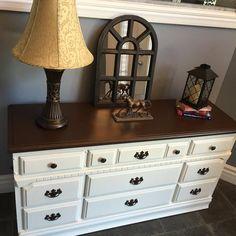 Refinished Real wood Dresser