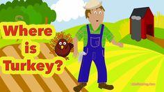 Preschool Thanksgiving Song - Where is Turkey? - Littlestorybug #thanksgiving
