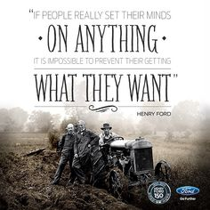 Ford wisdom.