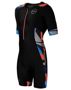 c86fc970d7 Zone 3 Mens Activate Plus Short Sleeve Trisuit - Midnight Camo Men's  Triathlon, Triathlon Swimming