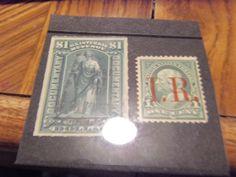 BOB COMBO32 1898--#R154 FRANKLIN OVPRINT MINT, OG & #R173 DOCUMENTARY USED, FINE +GIN BONUS