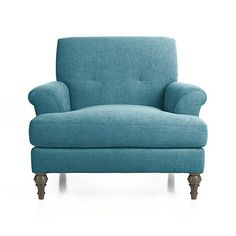 Camilla Chair in Tropic - $1200; ottoman for $649 | Crate and Barrel