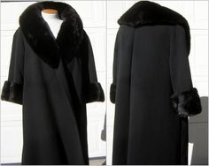 Hey, I found this really awesome Etsy listing at https://www.etsy.com/listing/165689806/black-mink-wrap-coat-french-wool