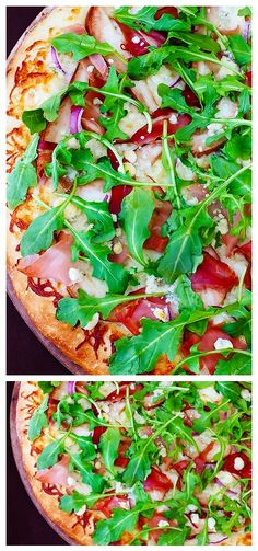 PEAR, PROSCIUTTO, ARUGULA & GORGONZOLA PIZZA INGREDIENTS 1 medium prepared pizza crust, homemade or storebought 2 Tbsp. olive oil 1 cup Mozzarella cheese 1 ripe pear (any variety), cored and sl…