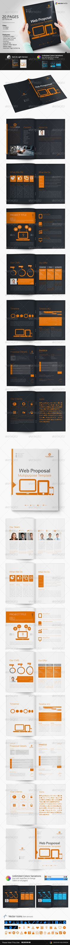 Web Proposal Template — InDesign INDD #form graphic #project proposal •…