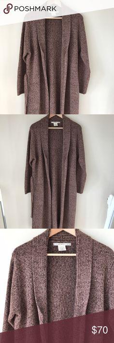Max Studio Brown Duster Cardigan Medium weight brown duster Cardigan. Excellent condition! Max Studio Sweaters Cardigans