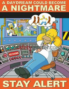 Simpsons Safety Posters - Mind On Task Simpsons Safety Safety Fail, Lab Safety, Safety Tips, Safety Week, Safety Rules, Food Safety, Safety Slogans, Safety Posters, Simpsons Cartoon