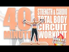 40 Minute Strength and Cardio Total Body Circuit Workout ? Sydney Cummings 40 Minute Strength and Cardio Total Body Circuit Workout ? Hiit Workout At Home, Cardio Routine, Toning Workouts, Workout Videos, At Home Workouts, Video Sport, Back And Biceps, Total Body, Full Body