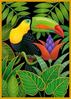 toucan-and-flowers