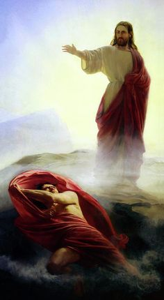This is my very favorite painting, when we choose Christ - the adversary has no power   Casting Out Satan By Carl Bloch