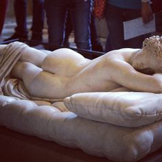 Beautiful statue of hermaphrodite in Louvre. #hermaphrodite #louvre #Paris #statue #museum