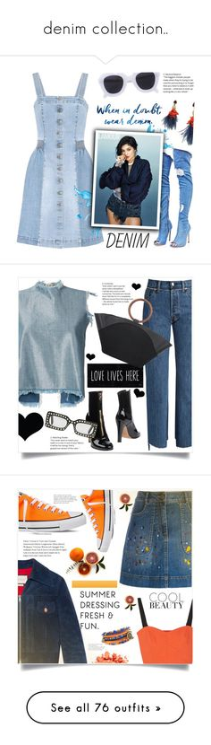 """""""denim collection.."""" by ainzme ❤ liked on Polyvore featuring STELLA McCARTNEY, Cape Robbin, CÉLINE, Lizzie Fortunato, Marques'Almeida, Vetements, Brika, Valentino, Gucci and The Row"""