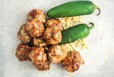 BBQ Cheddar Jalapeno Chicken Meatballs