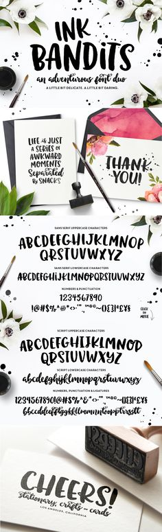 Ink Bandits Font Duo by MakeMediaCo. on Creative Market #designtools #lettering…