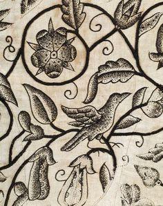 Waistcoat, England, 1620-1625, linen embroidered with silk - Victoria & Albert Museum