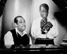 Listen to music from Louis Armstrong & Duke Ellington like It Don't Mean a Thing (If It Ain't Got That Swing) Remaster), Don't Get Around Much Anymore & more. Find the latest tracks, albums, and images from Louis Armstrong & Duke Ellington. Louis Armstrong, All About Jazz, Duke Ellington, Jazz Blues, Blues Music, Pop Music, Today In History, Jazz Musicians, Jazz Artists